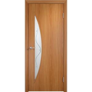 Дверь VERDA Тип С-6(Ф) остекленная 1900х600 МДФ финиш-пленка Миланский орех дверь verda тип с 10 ф остекленная 1900х600 мдф финиш пленка итальянский орех