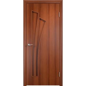 Дверь VERDA Тип С-7(г) глухая 2000х800 МДФ финиш-пленка Итальянский орех дверь verda глухая 2000х800 мдф финиш пленка белый