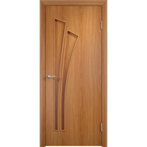 Дверь VERDA Тип С-7(г) глухая 2000х800 МДФ финиш-пленка Миланский орех дверь verda кэрол остекленная 2000х800 пвх миланский орех