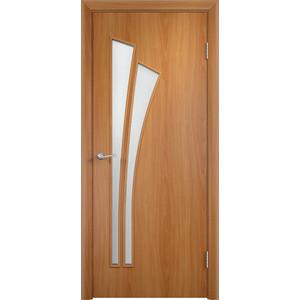 Дверь VERDA Тип С-7(о) остекленная 2000х800 МДФ финиш-пленка Миланский орех пленка
