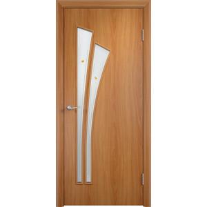 Дверь VERDA Тип С-7(Ф) остекленная 1900х600 МДФ финиш-пленка Миланский орех дверь verda тип с 10 ф остекленная 1900х600 мдф финиш пленка итальянский орех