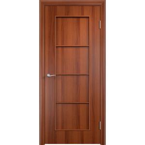 Дверь VERDA Тип С-8(г) глухая 2000х600 МДФ финиш-пленка Итальянский орех дверь verda тип с 10 г глухая 2000х600 мдф финиш пленка итальянский орех
