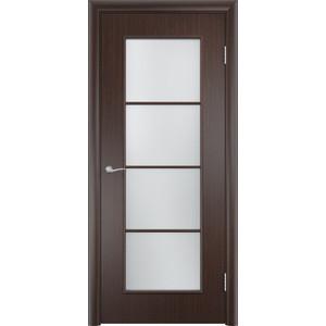 Дверь VERDA Тип С-8(о) остекленная 1900х600 МДФ финиш-пленка Венге пленка