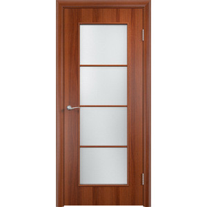 Дверь VERDA Тип С-8(о) остекленная 1900х600 МДФ финиш-пленка Итальянский орех дверь verda тип с 10 ф остекленная 1900х600 мдф финиш пленка итальянский орех
