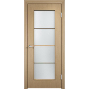 Дверь VERDA Тип С-8(о) остекленная 2000х600 МДФ финиш-пленка Дуб белёный дверь verda тип с 2 о остекленная 2000х600 мдф финиш пленка дуб белёный