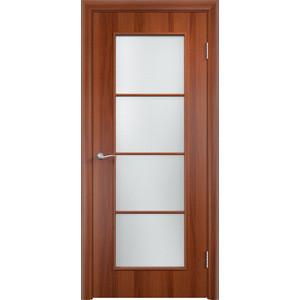 Дверь VERDA Тип С-8(о) остекленная 2000х600 МДФ финиш-пленка Итальянский орех дверь verda тип с 2 ф остекленная 2000х600 мдф финиш пленка итальянский орех