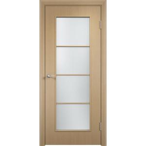 Дверь VERDA Тип С-8(о) остекленная 2000х800 МДФ финиш-пленка Дуб белёный пленка