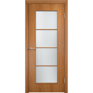 Дверь VERDA Тип С-8(о) остекленная 2000х800 МДФ финиш-пленка Миланский орех пленка