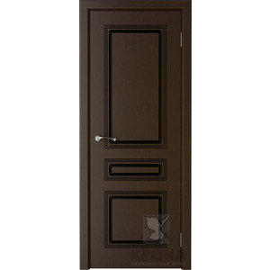 Дверь VERDA Стиль глухая 2000х800 шпон Венге дверь verda стиль глухая 2000х900 шпон венге
