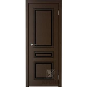 Дверь VERDA Стиль глухая 2000х900 шпон Венге дверь verda муза глухая фрезерованная 2000х900 шпон дуб