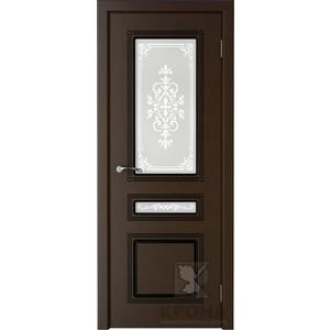 Дверь VERDA Стиль остекленная 2000х600 шпон Венге дверь межкомнатная эко шпон коллекция vetro vg2 2000х800х40 мм остекленная ct white waltz luce