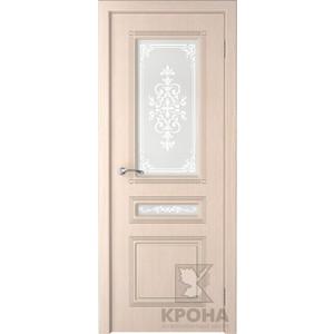 Дверь VERDA Стиль остекленная 2000х800 шпон Дуб белёный дверь межкомнатная эко шпон коллекция vetro vg2 2000х800х40 мм остекленная ct white waltz luce