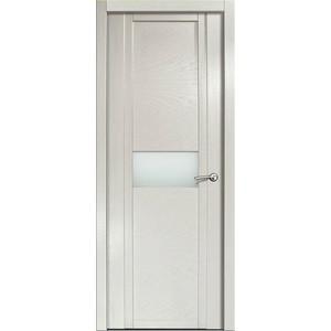 Дверь MILYANA Qdo_H остекленная 2000х800 шпон Ясень жемчуг дверь межкомнатная эко шпон коллекция vetro vg2 2000х800х40 мм остекленная ct white waltz luce
