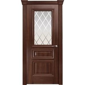 Дверь MILYANA Бристоль Сити остекленная 2000х900 шпон Итальянский орех