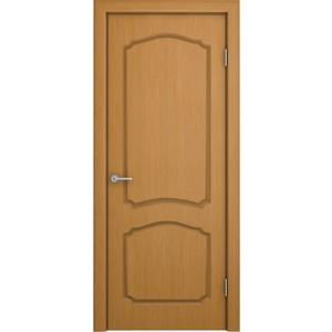Дверь VERDA Каролина глухая 1900х600 шпон Дуб дверь verda каролина глухая 1900х550 шпон макоре