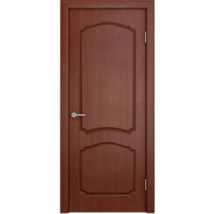 Дверь VERDA Каролина глухая 1900х600 шпон Макоре дверь verda каролина остекленная 2000х900 шпон макоре
