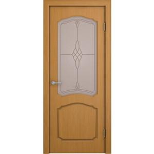 Дверь VERDA Каролина остекленная 2000х600 шпон Дуб дверь межкомнатная эко шпон коллекция vetro vg2 2000х800х40 мм остекленная ct white waltz luce
