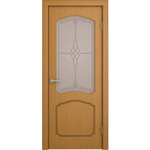 Дверь VERDA Каролина остекленная 2000х800 шпон Дуб дверь verda каролина остекленная 2000х900 шпон макоре