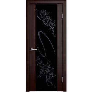 Дверь VERDA Кристалл остекленная 2000х800 шпон Венге темный дверь межкомнатная эко шпон коллекция vetro vg2 2000х800х40 мм остекленная ct white waltz luce