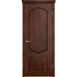 Дверь VERDA Престиж глухая 1900х550 шпон Кофе наличник verda мдф полукруглый шпон 2140х70х16 мм комплект 5 шт кофе
