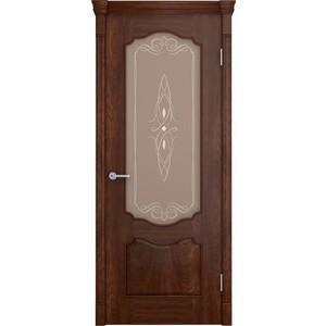 Дверь VERDA Престиж остекленная 2000х800 шпон Кофе