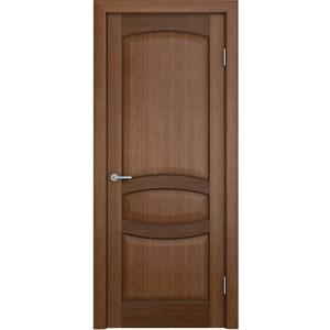 Дверь VERDA Сиена глухая 1900х600 шпон Орех дверь verda каролина глухая 1900х600 шпон макоре