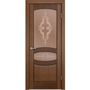 Дверь VERDA Сиена остекленная 2000х600 шпон Орех aquaton сиена 75