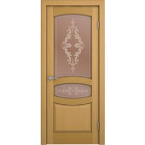 Дверь VERDA Сиена остекленная 2000х900 шпон Дуб дверь verda каролина остекленная 2000х900 шпон макоре