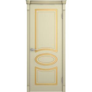 Дверь VERDA Фламенко глухая 2000х700 эмаль Слоновая кость с золотой патиной по фрезеровке docash dvm big d 10150 универсальный детектор