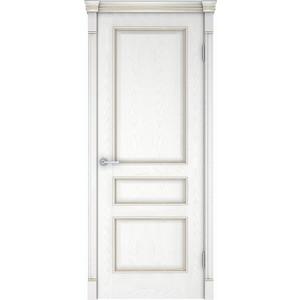 Дверь VERDA Шервуд 3 глухая 1900х550 шпон Снежный дуб дверь verda каролина глухая 1900х600 шпон дуб