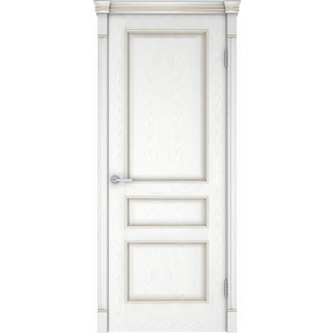 Дверь VERDA Шервуд 3 глухая 2000х800 шпон Снежный дуб дверь verda каролина глухая 2000х800 шпон дуб