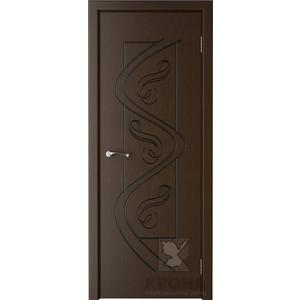 Дверь VERDA Вега глухая фрезерованная 1900х600 шпон Венге дверь verda каролина глухая 1900х600 шпон макоре