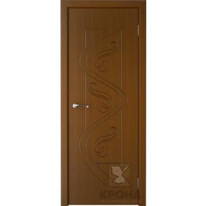 Дверь VERDA Вега глухая фрезерованная 2000х600 шпон Орех
