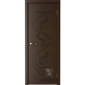 Дверь VERDA Вега глухая фрезерованная 2000х800 шпон Венге