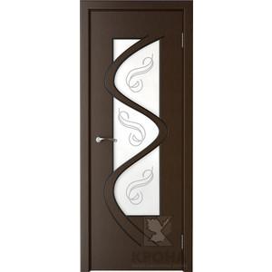 Дверь VERDA Вега остекленная 2000х600 шпон Венге левая кронштейн kromax vega 50 белый