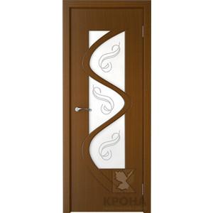Дверь VERDA Вега остекленная 2000х600 шпон Орех левая дверь verda каролина остекленная 2000х600 шпон макоре