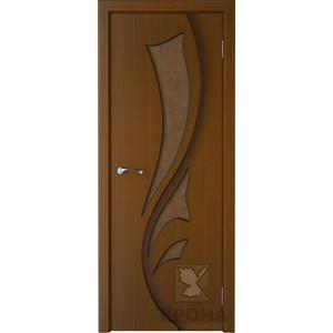 Дверь VERDA Лидия остекленная 2000х700 шпон Орех дверь verda сиена остекленная 2000х700 шпон орех