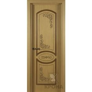 Дверь VERDA Муза глухая фрезерованная 2000х800 шпон Дуб