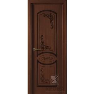 Дверь VERDA Муза глухая фрезерованная 2000х900 шпон Макоре дверь verda каролина остекленная 2000х900 шпон макоре