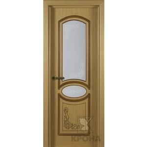 Дверь VERDA Муза остекленная 2000х600 шпон Дуб дверь verda муза глухая фрезерованная 2000х900 шпон дуб