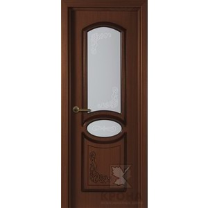 Дверь VERDA Муза остекленная 2000х600 шпон Макоре дверь verda каролина остекленная 2000х900 шпон макоре