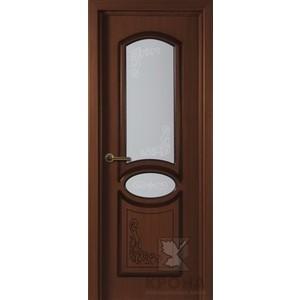 Дверь VERDA Муза остекленная 2000х800 шпон Макоре дверь межкомнатная эко шпон коллекция vetro vg2 2000х800х40 мм остекленная ct white waltz luce