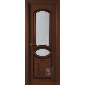 Дверь VERDA Муза остекленная 2000х900 шпон Макоре дверь verda каролина остекленная 2000х900 шпон макоре
