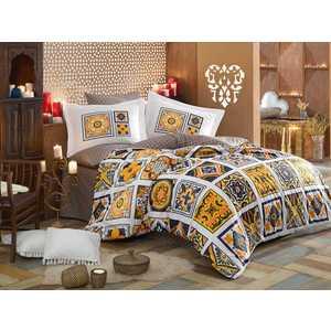 Комплект постельного белья Hobby home collection 1,5 сп, поплин, Mozaique, желтый (1607000131)