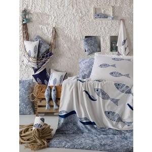 Комплект постельного белья Hobby home collection 1,5 сп, поплин, Blues, голубой (1607000134) комплект постельного белья hobby home collection 1 5 сп поплин flora голубой 1501001088