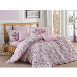 Фото Комплект постельного белья Hobby home collection 2-х сп, поплин, Flora, лиловый (1607000052)