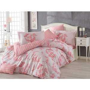 купить Комплект постельного белья Hobby home collection Евро, поплин, Vanessa, розовый (1501001126) недорого