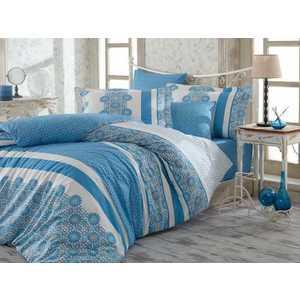 Комплект постельного белья Hobby home collection Евро, поплин, Lisa, синий (1501001120) dirk bikkembergs серая футболка с портретным принтом