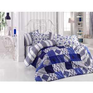 Комплект постельного белья Hobby home collection Евро, поплин, Clara, синий (1501001113) santa clara