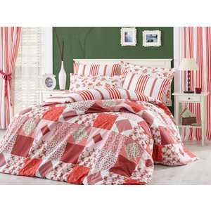 Комплект постельного белья Hobby home collection 2-х сп, поплин, Clara, красный (1607000017) santa clara